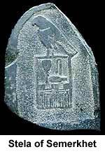 Stele of pharaoh Semerkhet