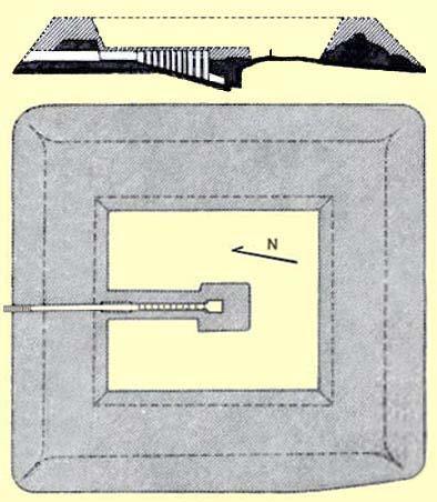 Plan of Khui's pyramid in Dara